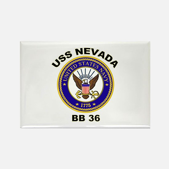 USS Nevada BB 36 Rectangle Magnet
