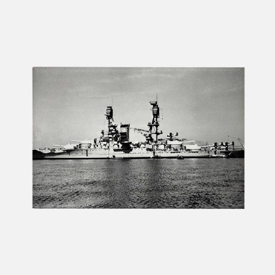 USS Nevada Ship's Image Rectangle Magnet