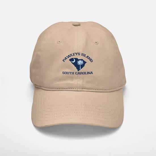Pawleys Island SC - Map Design Baseball Baseball Cap