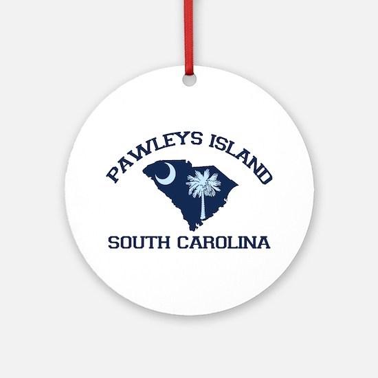 Pawleys Island SC - Map Design Ornament (Round)
