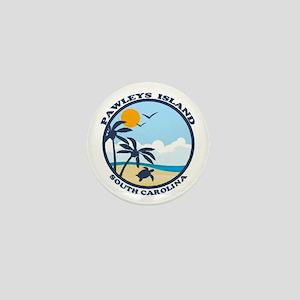 Pawleys Island SC - Beach Design Mini Button