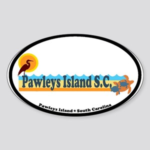 Pawleys Island SC - Beach Design Sticker (Oval)