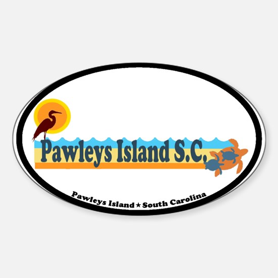 Pawleys Island SC - Beach Design Sticker (Oval)