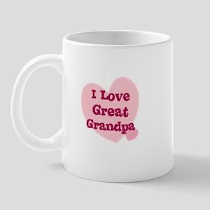 I Love Great Grandpa Mug