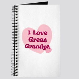 I Love Great Grandpa Journal