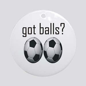 Funny Soccer Ornament (Round)