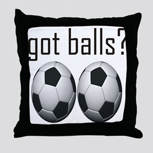 Funny Soccer Throw Pillow
