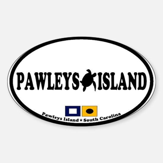 Pawleys Island SC - Oval Design Sticker (Oval)