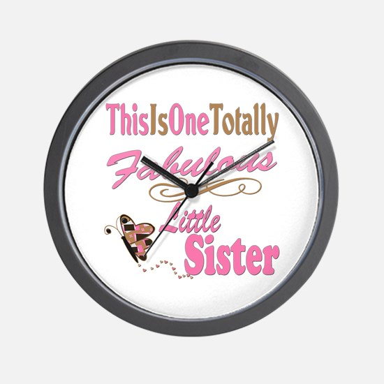 Totally Fabulous Little Sister Wall Clock
