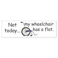 Wheelchair Flat Bumper Bumper Sticker