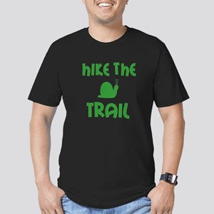 Hike the Snail Trail Men's Fitted T-Shirt (dark)