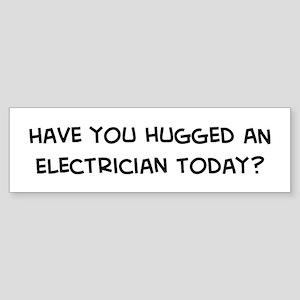 Hugged an Electrician Bumper Sticker