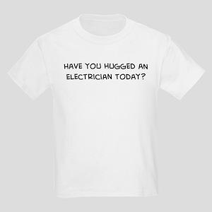 Hugged an Electrician Kids T-Shirt