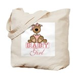 Baby Girl Teddy Bear Tote Bag