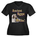 Giza Rocks Women's Plus Size V-Neck Dark T-Shirt