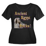 Giza Rocks Women's Plus Size Scoop Neck Dark T-Shi
