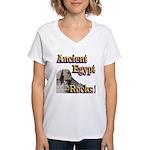 Giza Rocks Women's V-Neck T-Shirt
