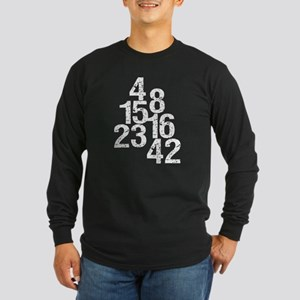 Eroded LOST Numbers Long Sleeve Dark T-Shirt