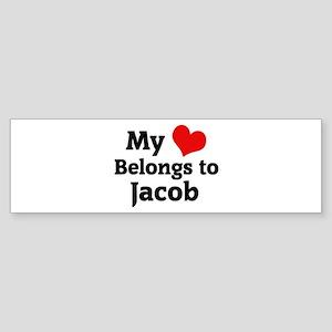 My Heart: Jacob Bumper Sticker