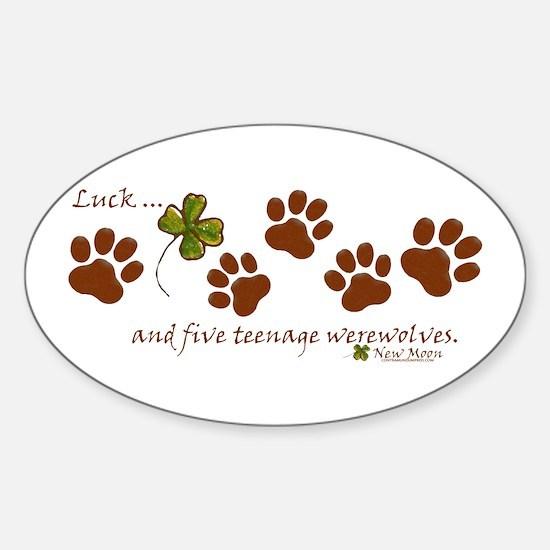 Werewolf Luck Sticker (Oval)