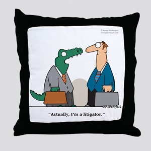 Litigator Throw Pillow