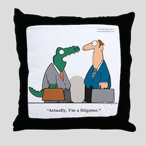 Litigator Throw Pillow