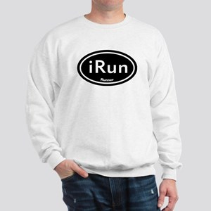 iRun Black Oval Sweatshirt