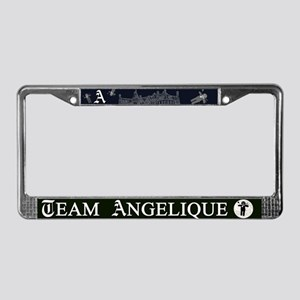 Team Angelique B&W License Plate Frame