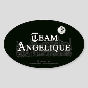 Team Angelique B&W Sticker (Oval)