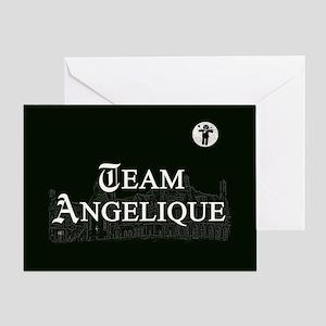 Team Angelique B&W Greeting Card