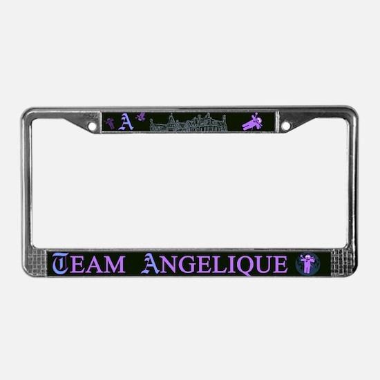 Team Angelique Color License Plate Frame