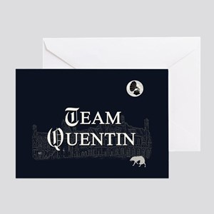 Team Quentin B&W Greeting Card
