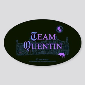 Team Quentin Color Sticker (Oval)