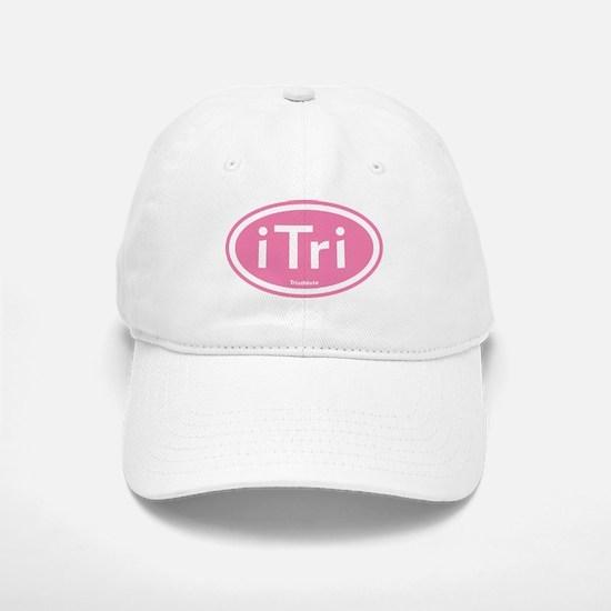 iTri Pink Oval Baseball Baseball Cap