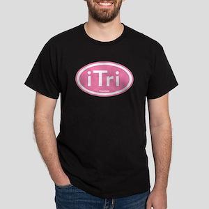 iTri Pink Oval Dark T-Shirt