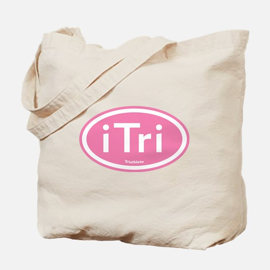 iTri Pink Oval Tote Bag
