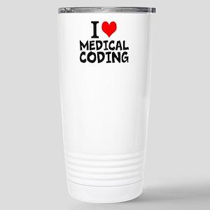 I Love Medical Coding Travel Mug