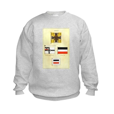 Old Germany Flags Kids Sweatshirt