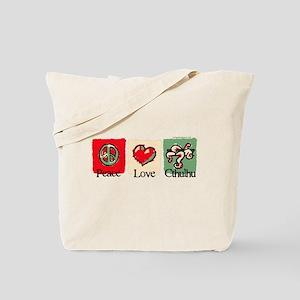 Peace, love, Cthulhu Tote Bag