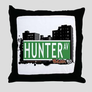 Hunter Av, Bronx, NYC Throw Pillow
