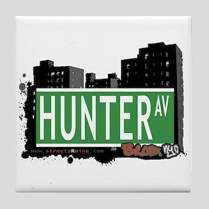 Hunter Av, Bronx, NYC Tile Coaster