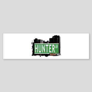 Hunter Av, Bronx, NYC Sticker (Bumper)