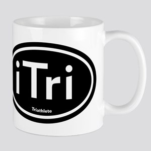 iTri Black Oval Mug