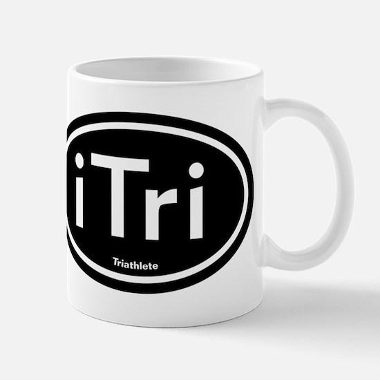 iTri Black Oval Mug