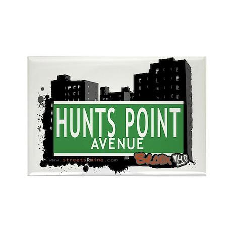 Hunts Point Av, Bronx, NYC Rectangle Magnet (100 p
