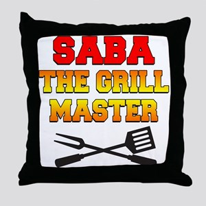 Saba The Grill Master Drinkware Throw Pillow
