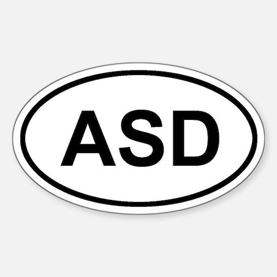 Andros Town, Andros, Bahamas ASD Sticker (Oval)