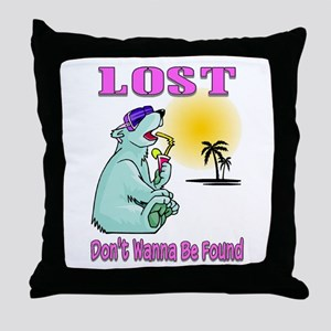 Don't Wanna Be Found Throw Pillow