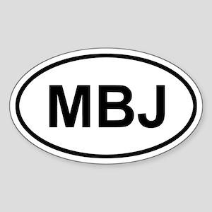 Montego Bay Jamaica MBJ Sticker (Oval)