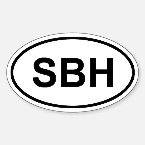 St. Barthelemy SBH Sticker (Oval)